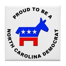 North Carolina Democrat Pride Tile Coaster