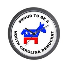 North Carolina Democrat Pride Wall Clock