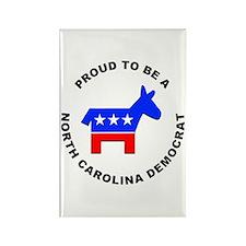 North Carolina Democrat Pride Rectangle Magnet