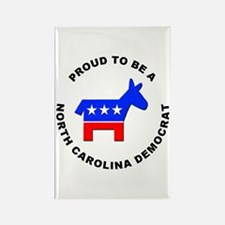 North Carolina Democrat Pride Rectangle Magnet