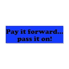 Pay it Forward Car Magnet-Blue