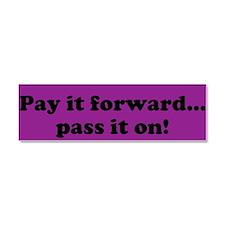 Pay it forward car magnet- purple