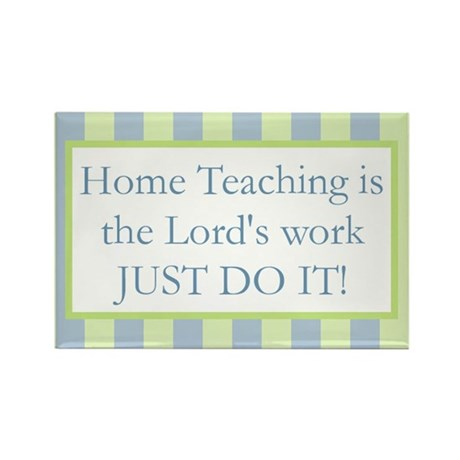 Home Teaching - Just do it! Rectangle Magnet (100