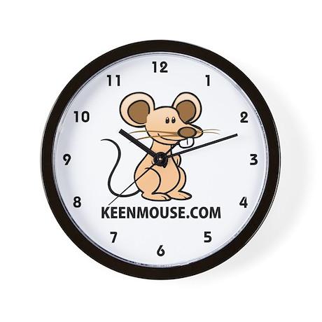 Keen Mouse Mascot Wall Clock
