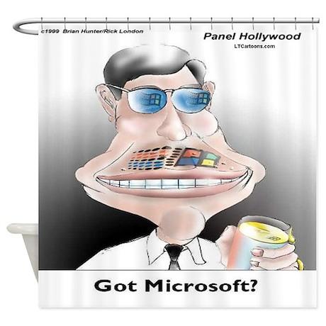 Got Microsoft Shower Curtain By RickLondonCartoons