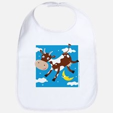 """""""Cow Jumped Over the Moon"""" Bib"""