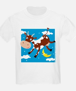 """Cow Jumped Over the Moon"" Kids T-Shirt"