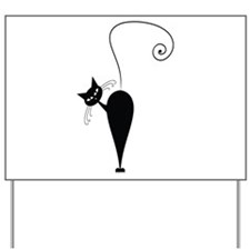 Black Cat Yard Sign