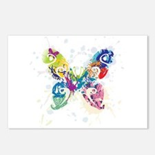 Colorful Butterfly Postcards (Package of 8)