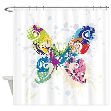 Colorful Butterfly Shower Curtain By TheBigShopofGreatStuff