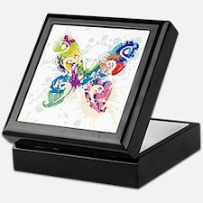 Colorful Butterfly Keepsake Box