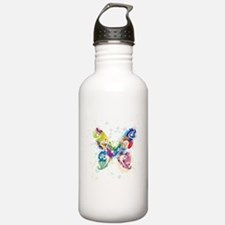 Colorful Butterfly Sports Water Bottle
