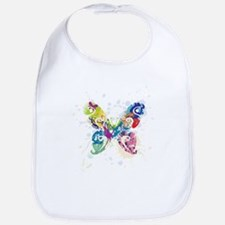 Colorful Butterfly Bib
