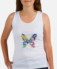 Colorful Butterfly Women's Tank Top