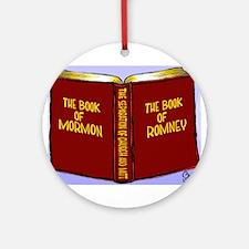 Book of Mormon/Romney Ornament (Round)