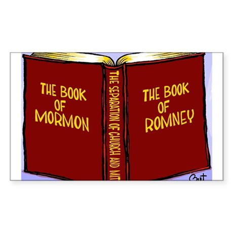 Book of Mormon/Romney Sticker (Rectangle)