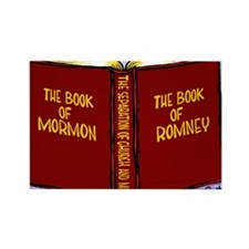 Book of Mormon/Romney Rectangle Magnet