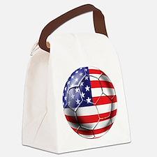 USA Soccer Ball Canvas Lunch Bag