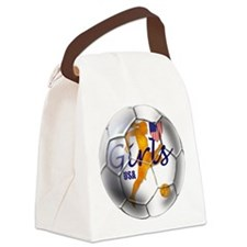 USA Girls Soccer Canvas Lunch Bag