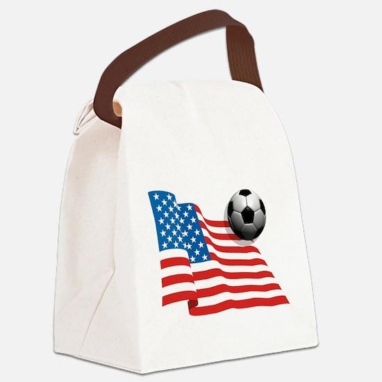 U.S. Soccer Flag Canvas Lunch Bag