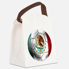 Mexican Soccer Ball Canvas Lunch Bag