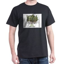 Green with Envy! Black T-Shirt