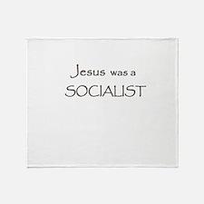 Jesus was a Socialist Throw Blanket