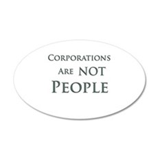 Corporations are NOT People Wall Decal