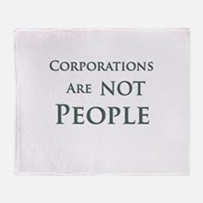 Corporations are NOT People Throw Blanket