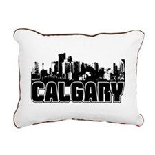 Calgary Skyline Rectangular Canvas Pillow