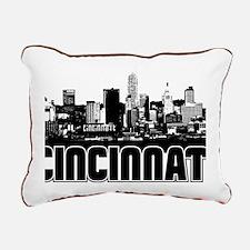 Cincinnati Skyline Rectangular Canvas Pillow