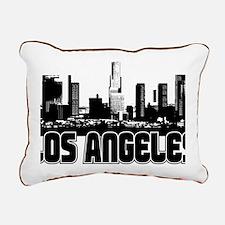 Los Angeles Skyline Rectangular Canvas Pillow