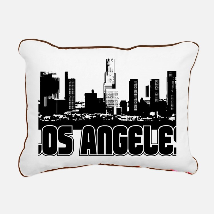 Los Angeles Skyline Rectangular Canvas Pillow