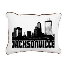 Jacksonville Skyline Rectangular Canvas Pillow