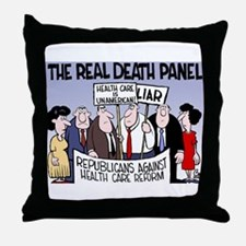 Real Death Panel Throw Pillow