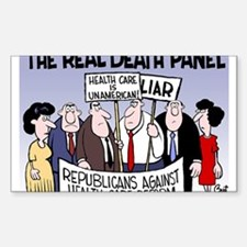 Real Death Panel Sticker (Rectangle)