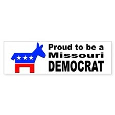 Missouri Democrat Pride Bumper Sticker
