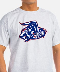 st. george fighting dragon with sword retro T-Shirt