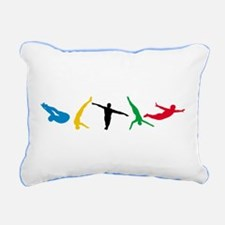 Diving Rectangular Canvas Pillow