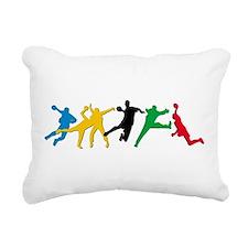 Handball Rectangular Canvas Pillow