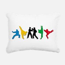 Tae Kwon Do Kicks Rectangular Canvas Pillow