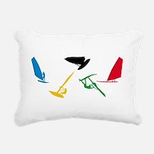 Windsurfing Rectangular Canvas Pillow