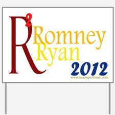 Romney Ryan Squared Yard Sign Yard Sign
