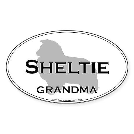 Sheltie GRANDMA Oval Sticker