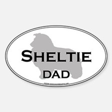 Sheltie DAD Oval Decal