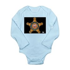 Secret Service Badge Long Sleeve Infant Bodysuit