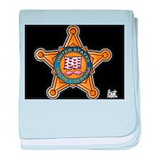 Secret Service Badge baby blanket