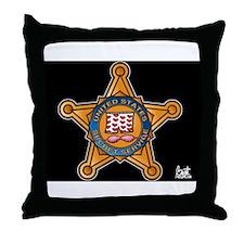 Secret Service Badge Throw Pillow