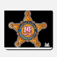 Secret Service Badge Mousepad
