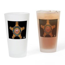 Secret Service Badge Drinking Glass